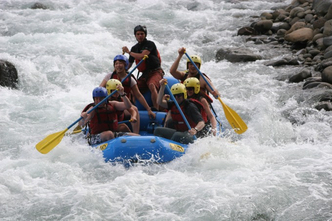 White water rafting in Costa Rica, 2003