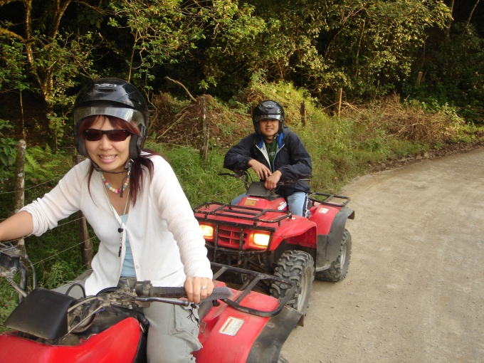 ATV riding through the rainforest in Costa Rica, 2003
