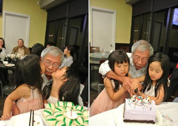Celebrating Gung Gung's 74th birthday at Cooking Papa