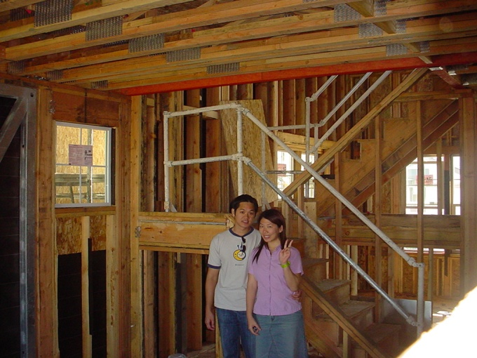 Watching our first home together get built in Santa Clara, CA. in 2003