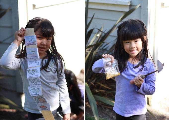 Learning to garden with Grandma Leung