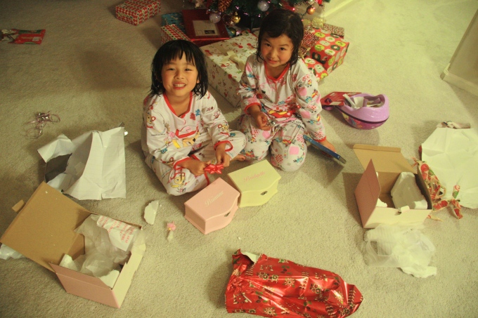 One of the 14 holiday activities allowed them to open up 2 Christmas gifts each before Christmas :)