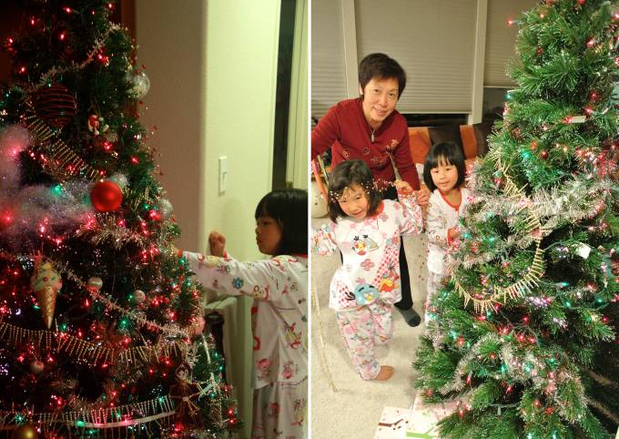 The girls got full liberty on how they wanted the tree to be decorated :)