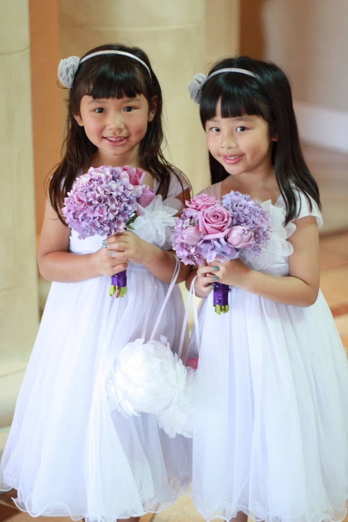 The two pretty flower girls at Uncle Ben and Aunty Daphne's Wedding