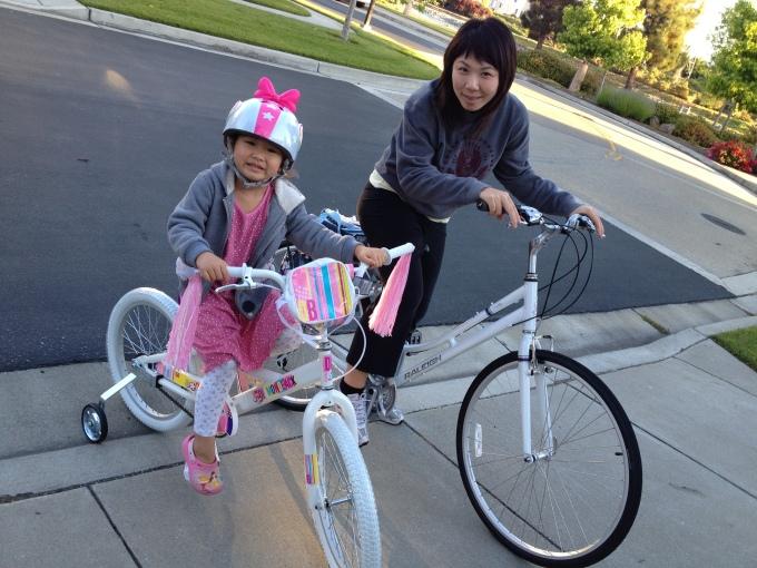 We both got new bikes!