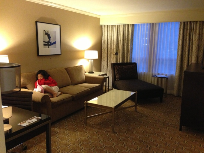 Spacious suite at the River Rock hotel