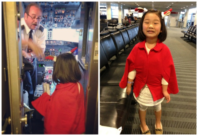 """Pilot gave her a little gift for her """"great X'mas spirit"""" when she popped in to wish him a merry christmas :)"""