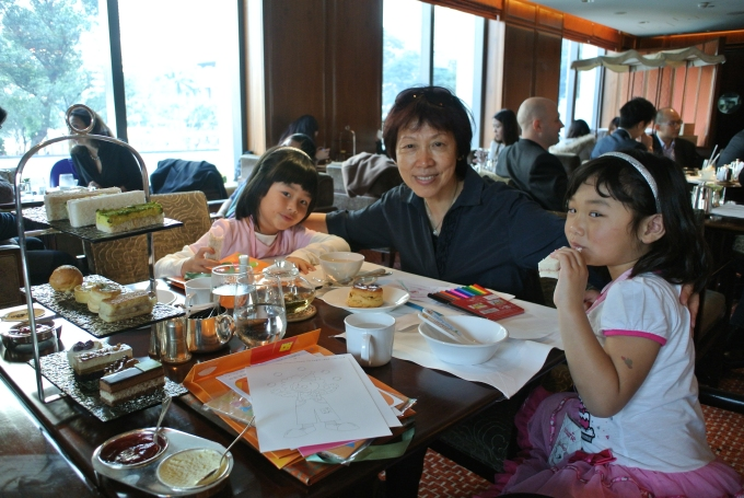High tea with grandma at the Mandarin Oriental
