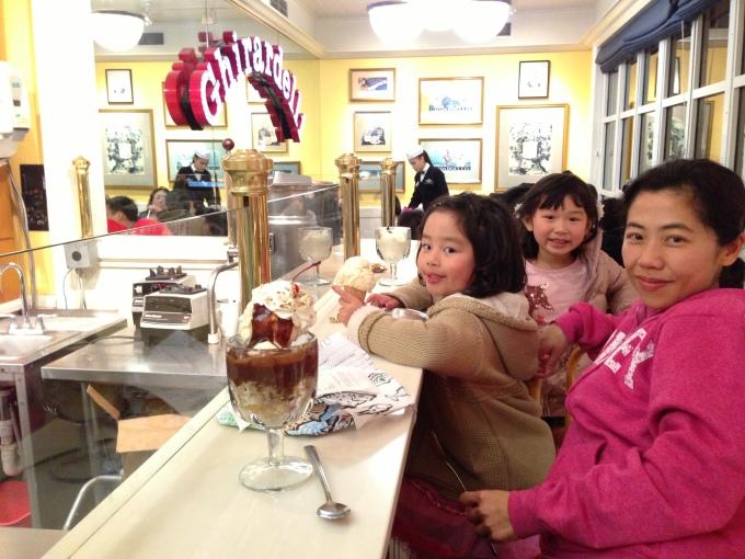 Ice cream treat at Ghiradelli