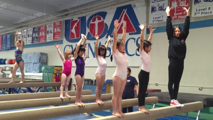 The girls have begun a weekly gymnastics class which they absolutely LOVE