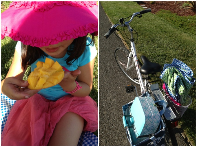Impromptu picnic after school in our neighborhood