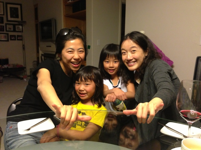 Hanging out with Mimi's friend Patricia, who visited from Hong Kong