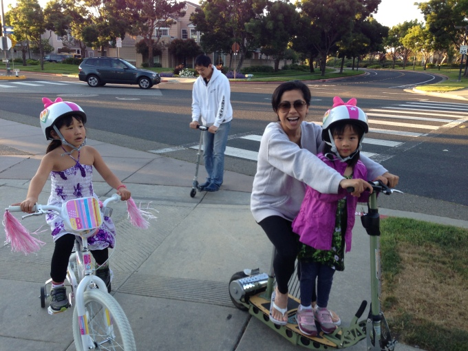 We love our after-dinner bike/scooter rides around the neighborhood