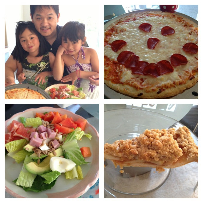 The girls, together with Alan, prepared a wonderful Mother's Day meal for Mimi and I!