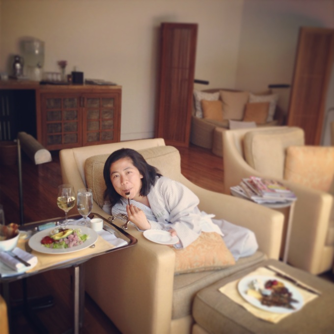 Lunching and spa-ing with my sis at Sense in Rosewood Sand Hill