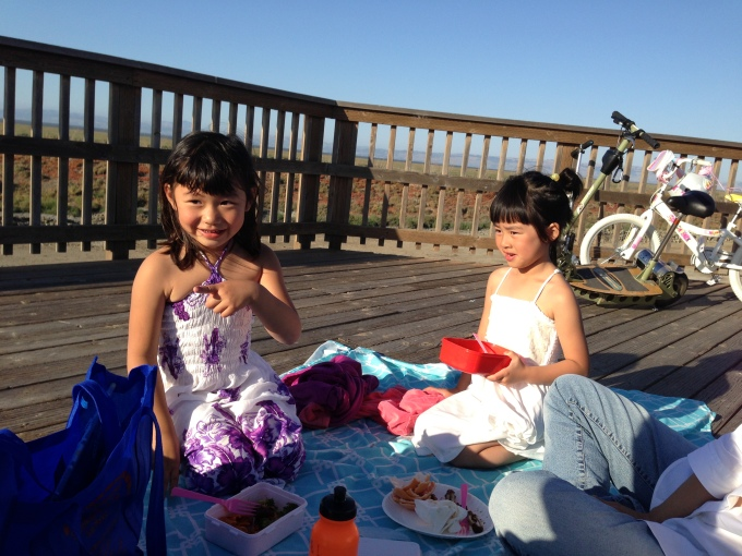More impromptu picnics in the warm weather