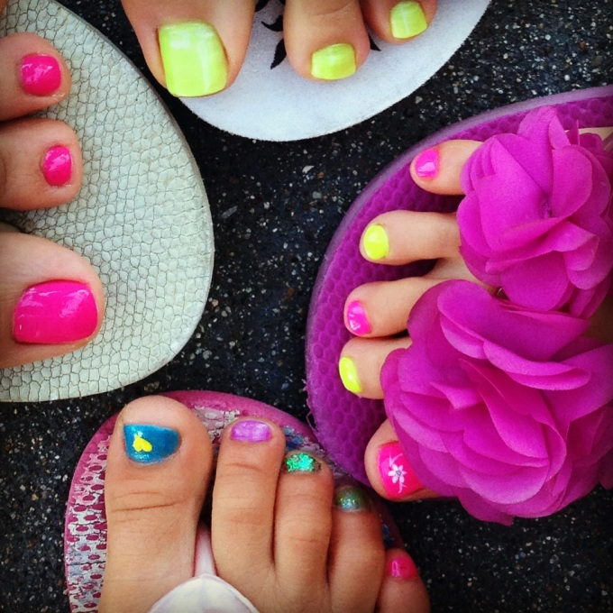 Our feet are ready for the summer! :)