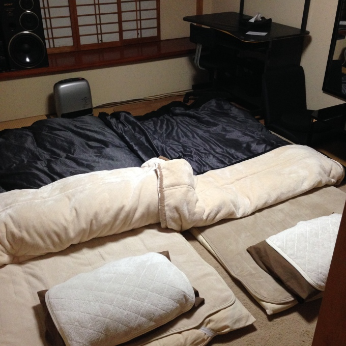 Our cozy tatami set up
