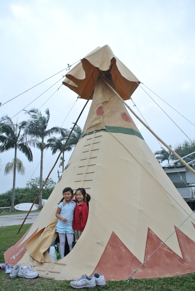 Overnighter in a teepee, in Cheung Sha