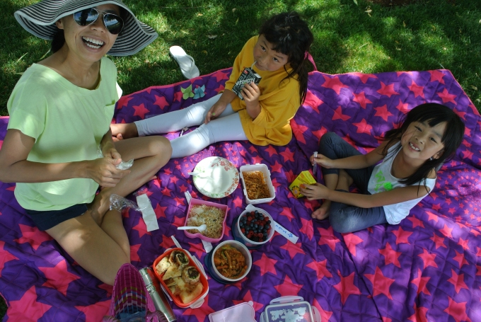 One of our favorite activities: picnicking in our hood!