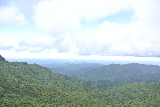 The gorgeous view that greeted us when we hiked to the top of one of the mountains!