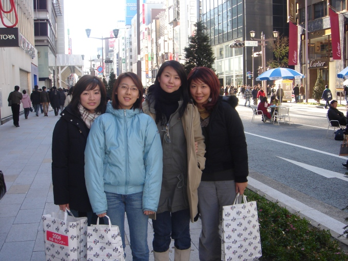 Girls' trip to Tokyo, before we all had kids. :)