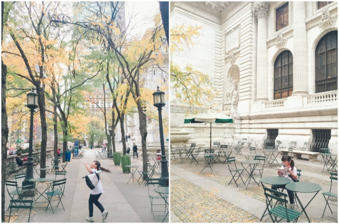 Got to visit the grand New York Public Library, but unfortunately, their Rose Reading Room was under renovation :(