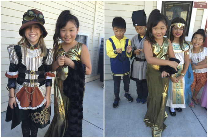 Halloween parade at school