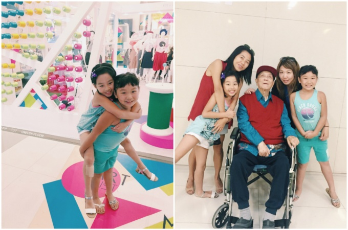 Precious time with great grandpa