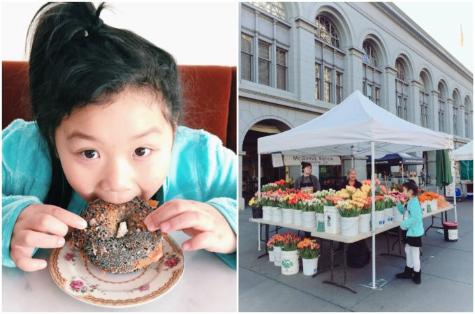 "After watching the sunrise, we ate the ""best bagel ever"" at 20th Century Cafe and got to stroll around Farmer's Market"