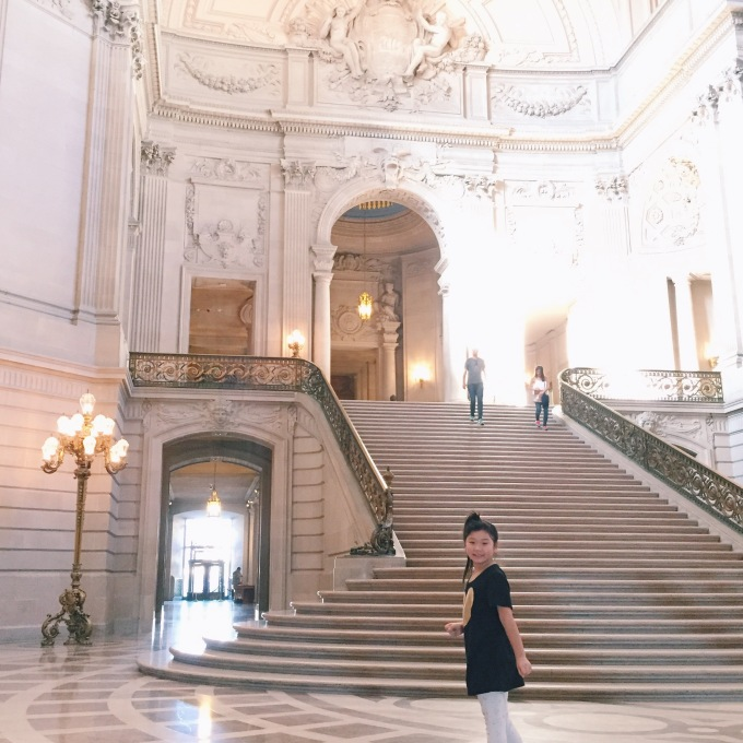 Impromptu visit to San Francisco City Hall, where Bridgette even got a tour of the Mayor's office!
