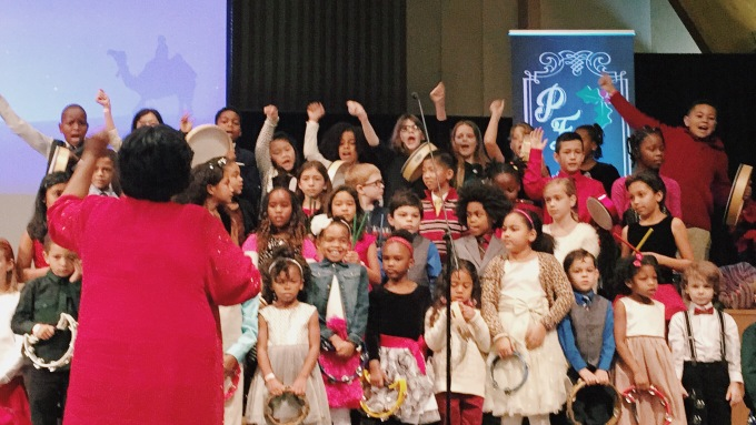 Bridgette joined the children's choir at our church for a spectacular holiday performance!