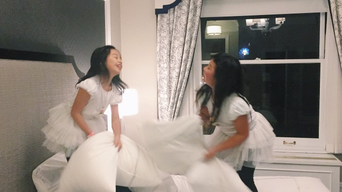 Never too old for a good ole pillow fight! :)