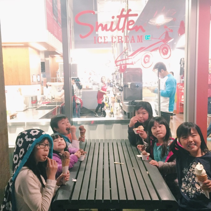 More ice cream outings with our friends