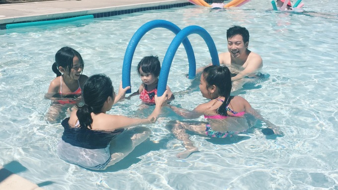 Swimming with Mochi