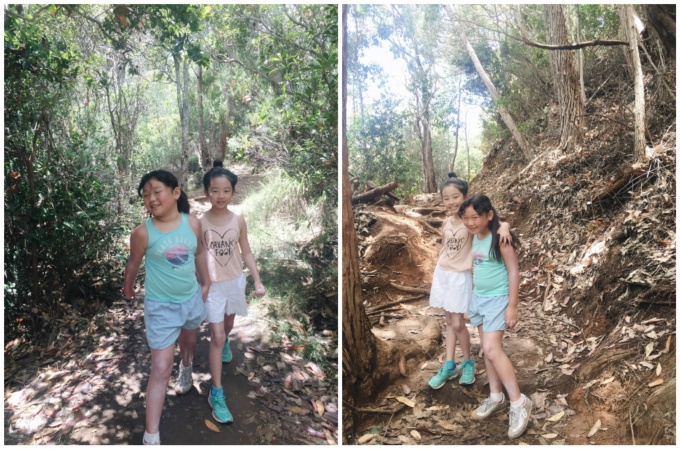 This was at the beginning of our hike, so the girls were still all smiles. Once the terrain started getting difficult, I couldn't even stop to take any more photos. :(