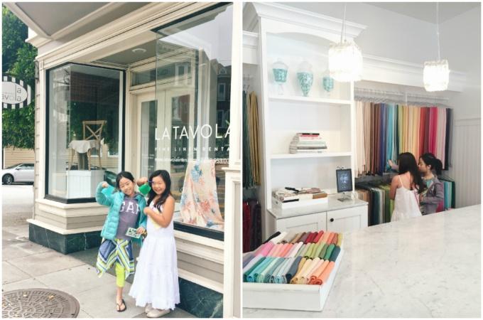 Took the girls to one of my favorite linen rental shops--La Tavola