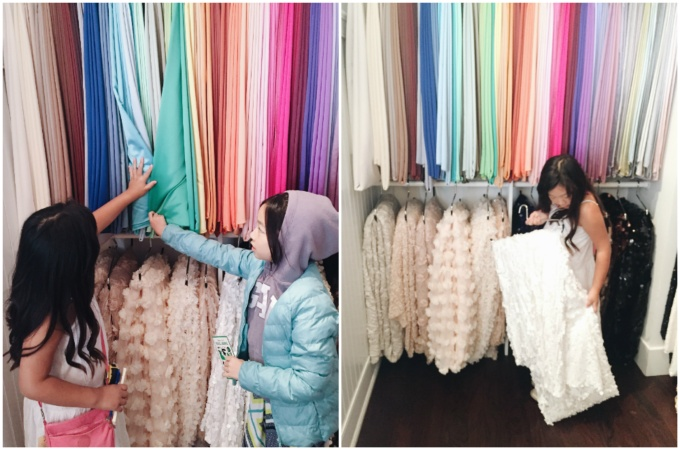 The girls were bewildered at the endless colors and styles available for linens and napkins.