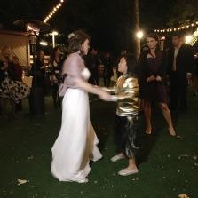 Bridge dancing with the bride